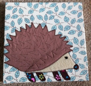 The fabric hedgehog.