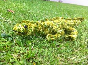 A crochet Tuatara